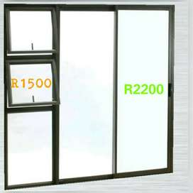 We manufacture customized and standard size aluminium Windows and door