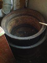 Печь-казан (Огромный казан с печкой на дровах)