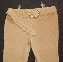 Женские вельветовые брюки с поясом