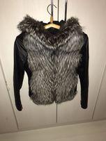 Куртка-Жилетка кожаная с чернобуркой