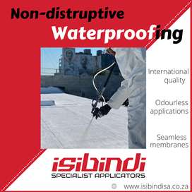 Non-disruptive waterproofing for industrial and commercial buildings
