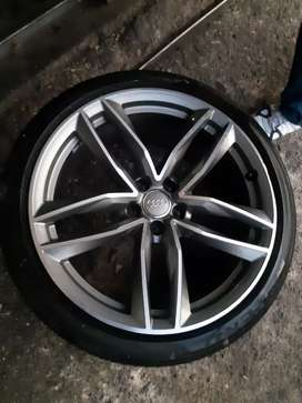 Single 20 inch mag RS 8 Audi  mag and tyre