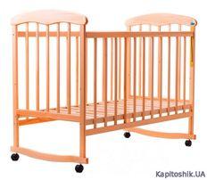 """Детская кроватка """"Наталка"""" натуральное дерево ольха"""
