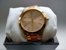 Michael Kors złoty różowy zegarek Mk3493