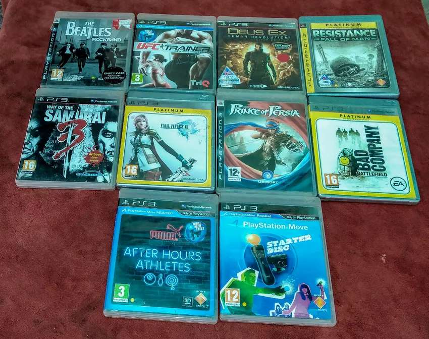 Selling ps3 games in excellent condition