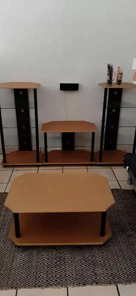 Tv unit with glass shelves bargain!!