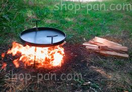 Сковорода с диска бороны 50см, крышка и чехол Полный комплект садж ОПТ