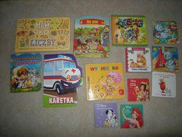 13 książeczek dziecięcych, sztywne i miękkie kartki