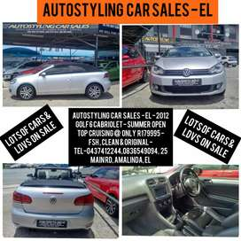 Autostyling Car Sales - EL - 2012 Golf 6 Cabriolet only R179995-Hurry!