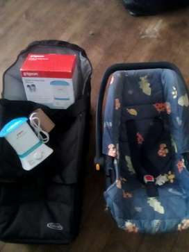 Pigeon bottle and baby food warmer,Carry Cot, Car Chair