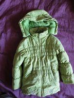 Зимняя куртка, пуховик, 6-7 лет, на рост 122 см,теплая,