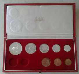 Nice 1970 S.A short proof set with silver R1