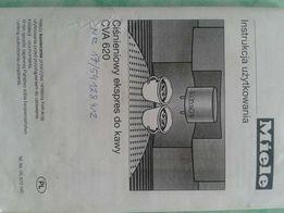Instrukcja ekspres Miele CVA 620