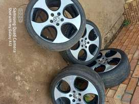 18 inch original Golf 6 gti mag wheels with tires.