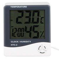 Цифровой термометр часы гигрометр с датчиком HTC-2