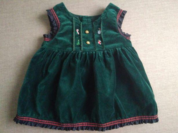Новорічне платтячко/ велюрова сукня для малечі 0-6міс. Львов - изображение 1