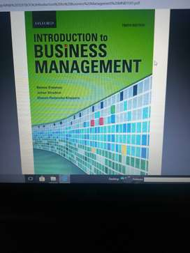 Introduction to business management tenth edition by Barnet Erasmus
