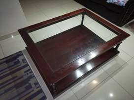 Imbuya Glass top Coffee table