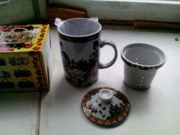 чашка заварник для чая подарочная