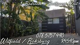 Garden cottage to rent in Witfield Boksburg