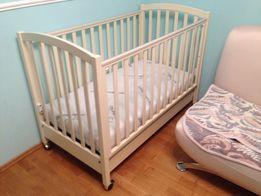 Кровать детская ИТАЛИЯ до 3лет, с МАТРАСОМ и ящиком для игрушек