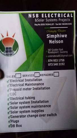 NSB electrical and solar system  projects