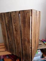 Skrzynia drewniana przypalana