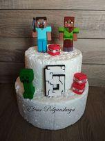мастичные фигурки майнкрафт для торта, сахарные фигурки