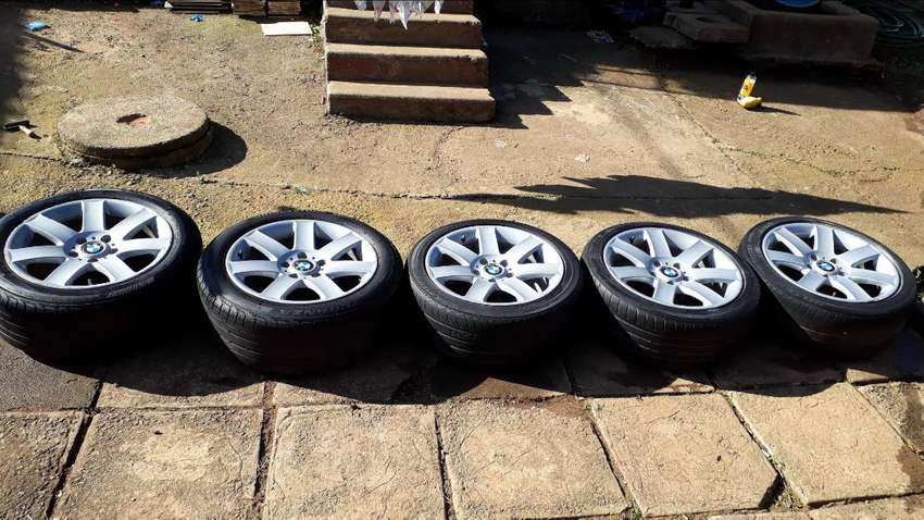 Bmw rims and tyres 5x17inch 0