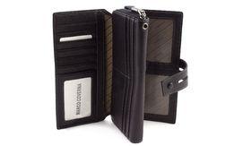 Вместительный мужские кожаный кошелек-клатч на молнии Marco Coverna