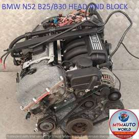 Imported used BMW N52b30 head and block for sale at MYM AUTOWORLD