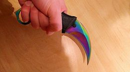 Нож керамбит CS:GO градиент с чехлом