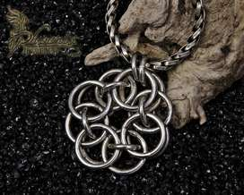 Silver Chainmail Pendant