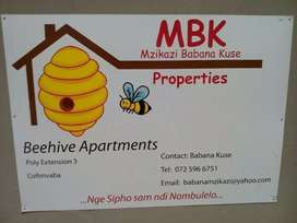 Classy up market apartments available for rental in Cofimvaba