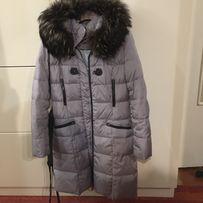 Пальто зимнее куртка натуральный мех размер 48/ зимовий пуховик