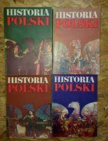 Historia Polski, cztery tomy.