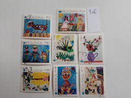 32. znaczki polskie kasowane - święta , bajki