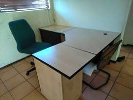 Full Office Desk Suite with 2 x Chairs_BARGAIN!! at R800.00