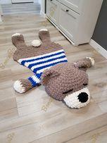 2 в 1 плюшевый коврик подушка для детей. мишка морячок.