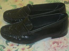 Туфли черные кожаные новые 20,5см