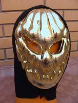 маска яркая страшная тыквы на хелоуин блестящая