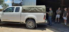 Toyota hilux Railings/Canvas canopy