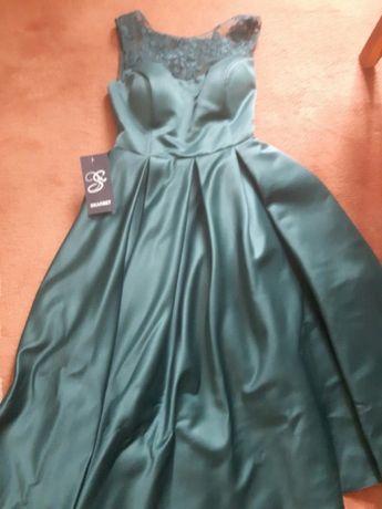 Изумрудное платье миди Мостиска - изображение 2