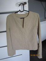 bluzka beżowa oryginalana 38 długi rękaw