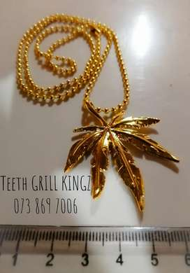 Leaf Pendant and Chain R150