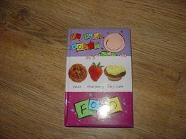 angielska książeczka sztywne strony food