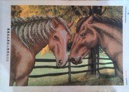 Схема для вышивки бисером Две лошади