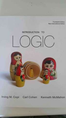Introduction to logic textbook - 14th edition