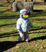 Зимний комбинезон, очень теплый термо костюм на 1-2 года
