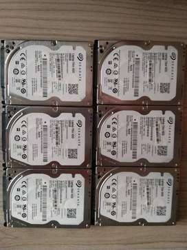 Seagate 2.5 Inch; 500Gb 7200RPM Laptop Harddrive x 6